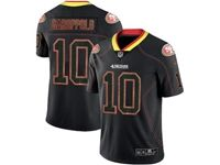 Mens Nfl San Francisco 49ers #10 Jimmy Garoppolo 2018 Lights Out Black Vapor Untouchable Limited Jersey