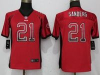Women Youth Nfl San Francisco 49ers #21 Deion Sanders Red Drift Fashion Elite Jerseys