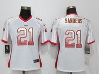 Women Youth Nfl San Francisco 49ers #21 Deion Sanders White Drift Fashion Elite Jerseys