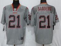 Mens Nfl San Francisco 49ers #21 Deion Sanders Lights Out Gray Elite Jersey