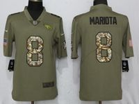 Mens Nfl Tennessee Titans #8 Marcus Mariota Olive Camo Carson 2017 Salute To Service Limited Jersey