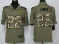 Mens Nfl Tennessee Titans #22 Derrick Henry Olive Camo Carson 2017 Salute To Service Limited Jersey