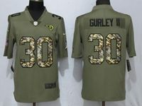 Mens Nfl Los Angeles Rams #30 Todd Gurley Ii Olive Camo Carson 2017 Salute To Service Limited Jersey