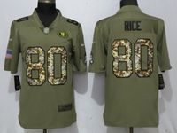 Mens Nfl San Francisco 49ers #80 Jerry Rice Olive Camo Carson 2017 Salute To Service Limited Jersey