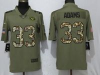 Mens Nfl New York Jets #33 Jamal Adams Olive Camo Carson 2017 Salute To Service Limited Jersey