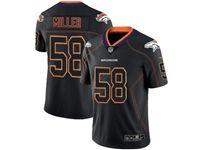 Mens Nfl Denver Broncos #58 Von Miller 2018 Lights Out Black Vapor Untouchable Limited Jersey