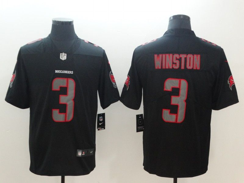 Mens Nfl Tampa Bay Buccaneers #3 Jameis Winston 2018 Fashion Impact Black Vapor Untouchable Limited Jersey
