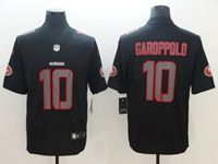 Mens Nfl San Francisco 49ers #10 Jimmy Garoppolo 2018 Fashion Impact Black Vapor Untouchable Limited Jersey