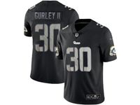 Mens Nfl Los Angeles Rams #30 Todd Gurley Ii 2018 Fashion Impact Black Vapor Untouchable Limited Jersey