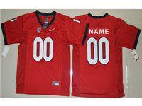 Mens Youth Ncaa Nfl Georgia Bulldogs Custom Made Red Jersey