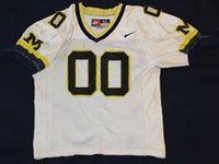 Mens Ncaa Nfl Michigan Wolverines Custom Made White Mesh Jersey
