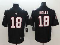 Mens New Nike Atlanta Falcons #18 Calvin Ridley 2018 Black Vapor Untouchable Limited Jersey