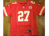 Mens Nfl Kansas City Chiefs #27 Kareem Hunt Red Elite Jersey