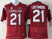 Mens Ncaa Nfl South Carolina Gamecock #21 Lattimore Red Elite Jersey