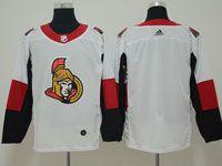 Mens Ottawa Senators Blank White Adidas Jersey