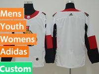 Mens Ottawa Senators Custom Made White Adidas Jersey