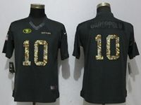 Women Nike Nfl San Francisco 49ers #10 Jimmy Garoppolo Anthracite Salute To Service Limited Jersey