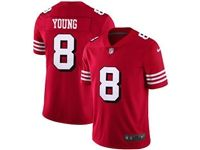 Mens Nfl San Francisco 49ers #8 Steve Young Red Color Rush Vapor Untouchable Limited Player Jersey