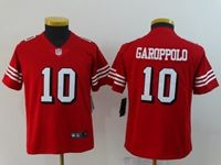 Youth Nfl San Francisco 49ers #10 Jimmy Garoppolo Red Color Rush Vapor Untouchable Limited Jersey