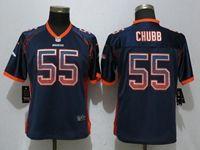 Women Denver Broncos #55 Bradley Chubb Drift Fashion Blue Elite Nike Jersey