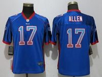 Women Nfl Buffalo Bills #17 Josh Allen Drift Fashion Blue Elite Nike Jersey
