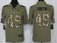 Mens Nfl Seattle Seahawks #49 Shaquem Griffin Olive Camo Carson 2017 Salute To Service Limited Jersey