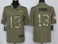 Mens Nfl Tampa Bay Buccaneers #13 Mike Evans Olive Camo Carson 2017 Salute To Service Limited Jersey