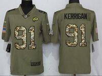 Mens Nfl Washington Redskins #91 Ryan Kerrigan Olive Camo Carson 2017 Salute To Service Limited Jersey