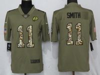 Mens Nfl Washington Redskins #11 Alex Smith Olive Camo Carson 2017 Salute To Service Limited Jersey