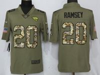 Nfl Jacksonville Jaguars #20 Jalen Ramsey Olive Camo Carson 2017 Salute To Service Limited Jersey