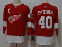 Women Youth Nhl Detroit Red Wings #40 Henrik Zetterberg Adidas Red Jersey