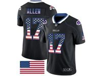 Mens Nfl Buffalo Bills #17 Josh Allen 2018 Usa Flag Fashion Black Vapor Untouchable Limited Jersey
