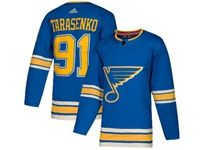 Mens Nhl St.louis Blues #91 Vladimir Tarasenko Adidas Blue Alternate Authentic Player Jersey