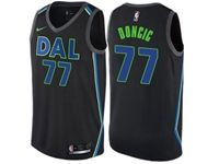 Mens 2018-19 Nba Dallas Mavericks #77 Luka Doncic Black Swingman Nike Jersey