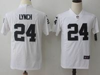 Mens Nfl Oakland Raiders #24 Marshawn Lynch White Vapor Untouchable Limited Player Jersey