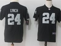 Women Youth Nfl Oakland Raiders #24 Marshawn Lynch Black Vapor Untouchable Limited Player Jersey