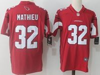 Mens Nfl Arizona Cardinals #32 Tyrann Mathieu Red Vapor Untouchable Limited Player Jersey