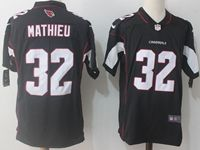 Mens Nfl Arizona Cardinals #32 Tyrann Mathieu Black Vapor Untouchable Limited Player Jersey