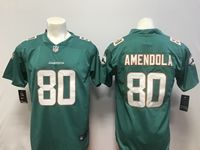 Mens Miami Dolphins #80 Danny Amendola Green Vapor Untouchable Limited Player Jersey