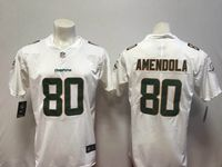 Mens Miami Dolphins #80 Danny Amendola White Vapor Untouchable Limited Player Jersey