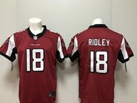 Mens New Nike Atlanta Falcons #18 Calvin Ridley Red Vapor Untouchable Limited Jersey