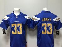 Mens San Diego Chargers #33 Derwin James 2018 Blue Vapor Untouchable Limited Jersey