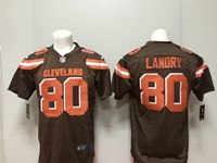 Mens Nfl Cleveland Browns #80 Jarvis Landry Nike Brown Game Jersey