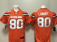 Mens Nfl Cleveland Browns #80 Jarvis Landry Nike Orange Game Jersey