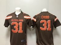Mens Nfl Cleveland Browns #31 Nick Chubb Nike Brown Game Jersey