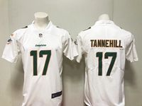 Mens Miami Dolphins #17 Ryan Tannehill White Vapor Untouchable Limited Player Jersey