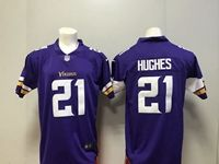 Mens Nfl Minnesota Vikings #21 Mike Hughes Purple Vapor Untouchable Limited Player Jersey