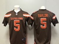 Mens Nfl Cleveland Browns #5 Tyrod Taylor Brown Nike Game Jersey