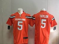Mens Nfl Cleveland Browns #5 Tyrod Taylor Orange Nike Game Jersey