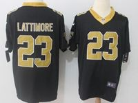 Mens Nfl New Orleans Saints #23 Marshon Lattimore Black Vapor Untouchable Limited Jersey